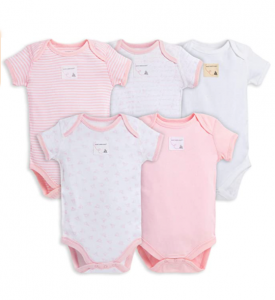 Burt's Bees Baby Unisex 5-Pack Short & Long Sleeve One-Pieces