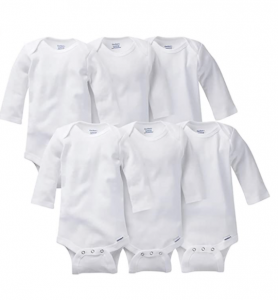 GERBER Baby 6-Pack Long-Sleeve Onesies Bodysuit
