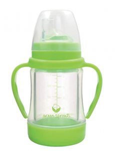Green Sprouts Glass Sip & Straw Cup
