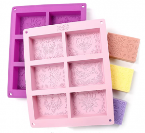 Silicone Rectangle Shaped Soap Molds by the Silly Pops