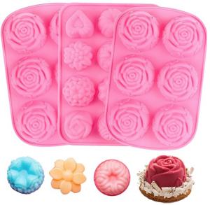 YGEOMET Silicone Flower Soap Mold